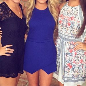 Other - Blue pointed romper